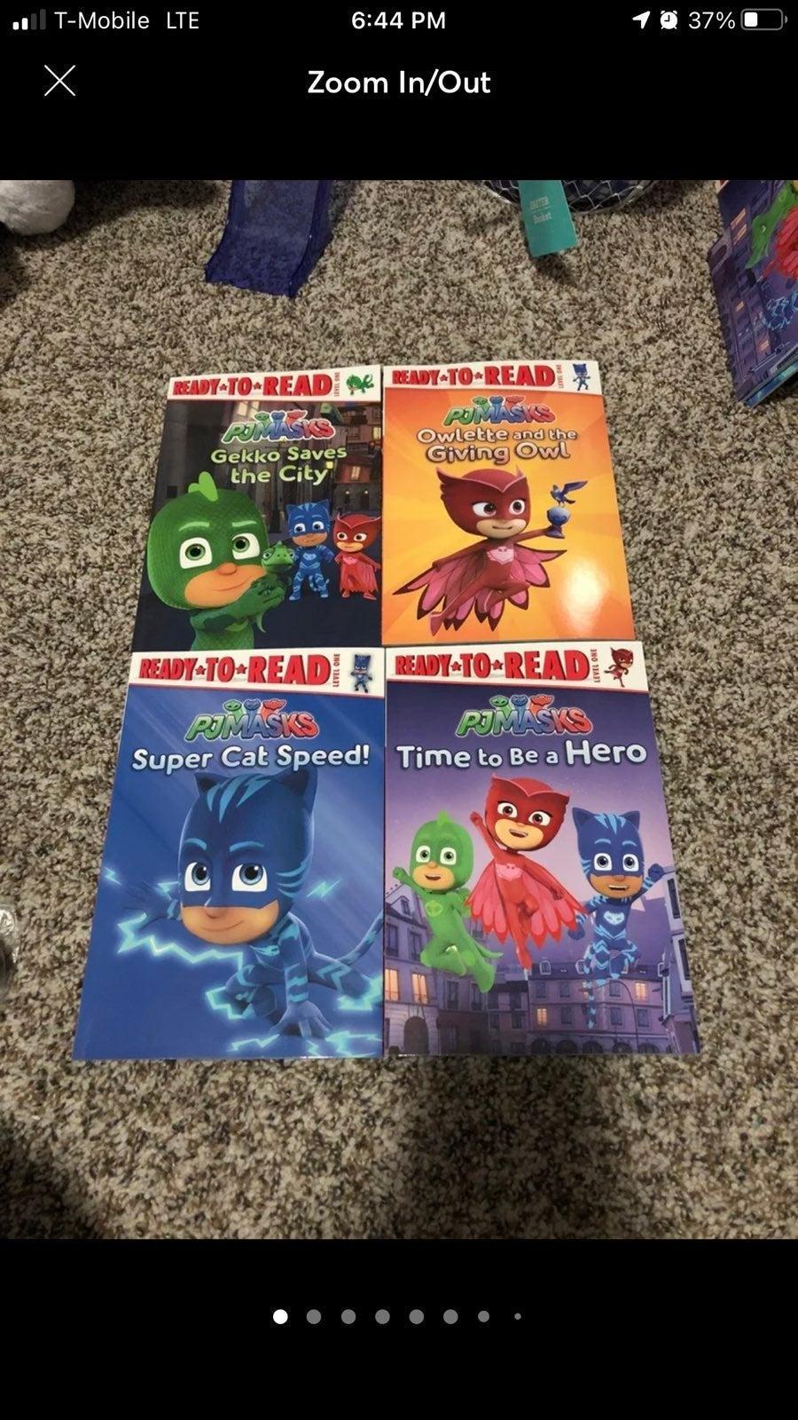 PJ MASKS books read level 1