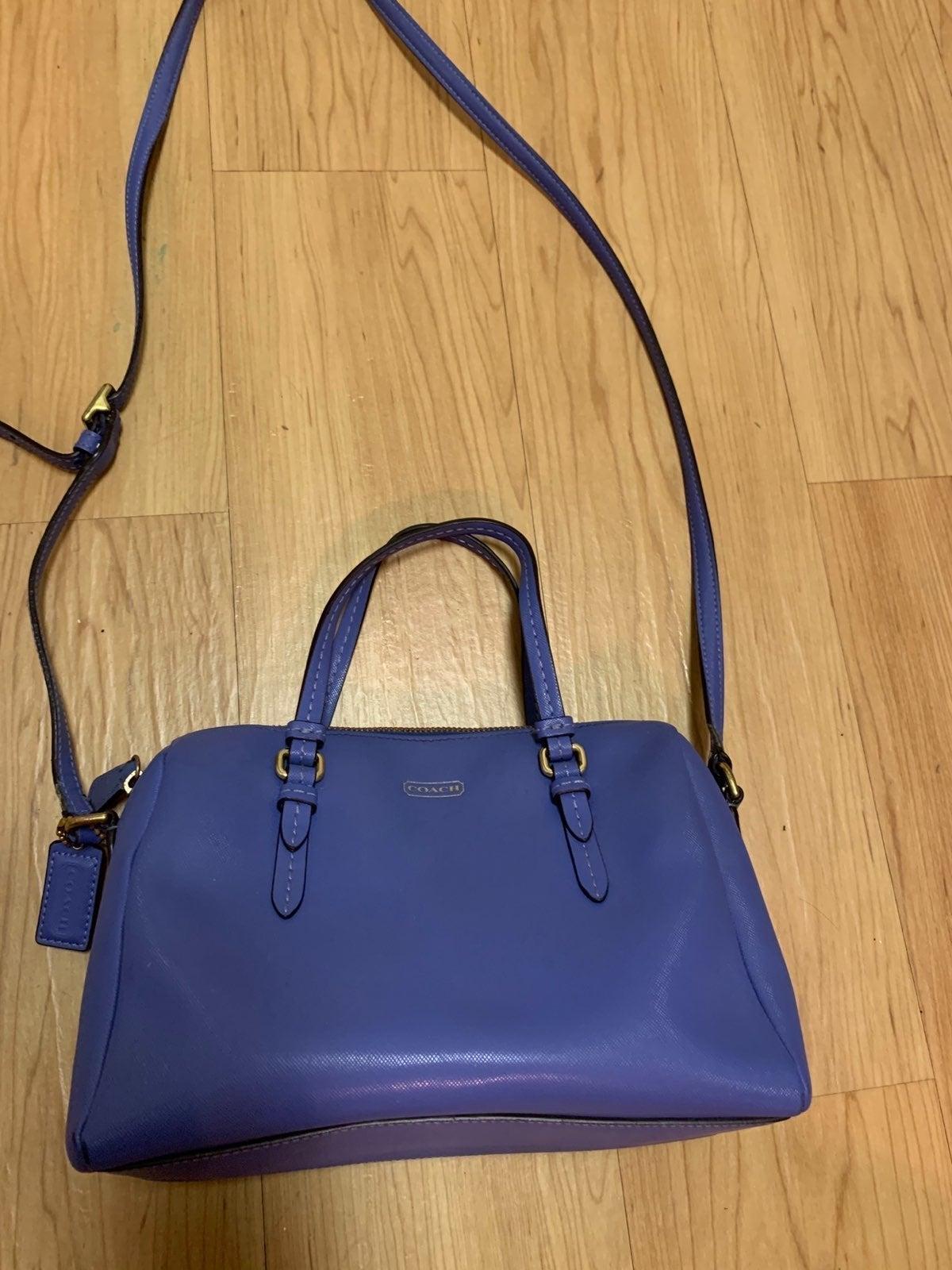 Coach mini satchel crossbody blue handba