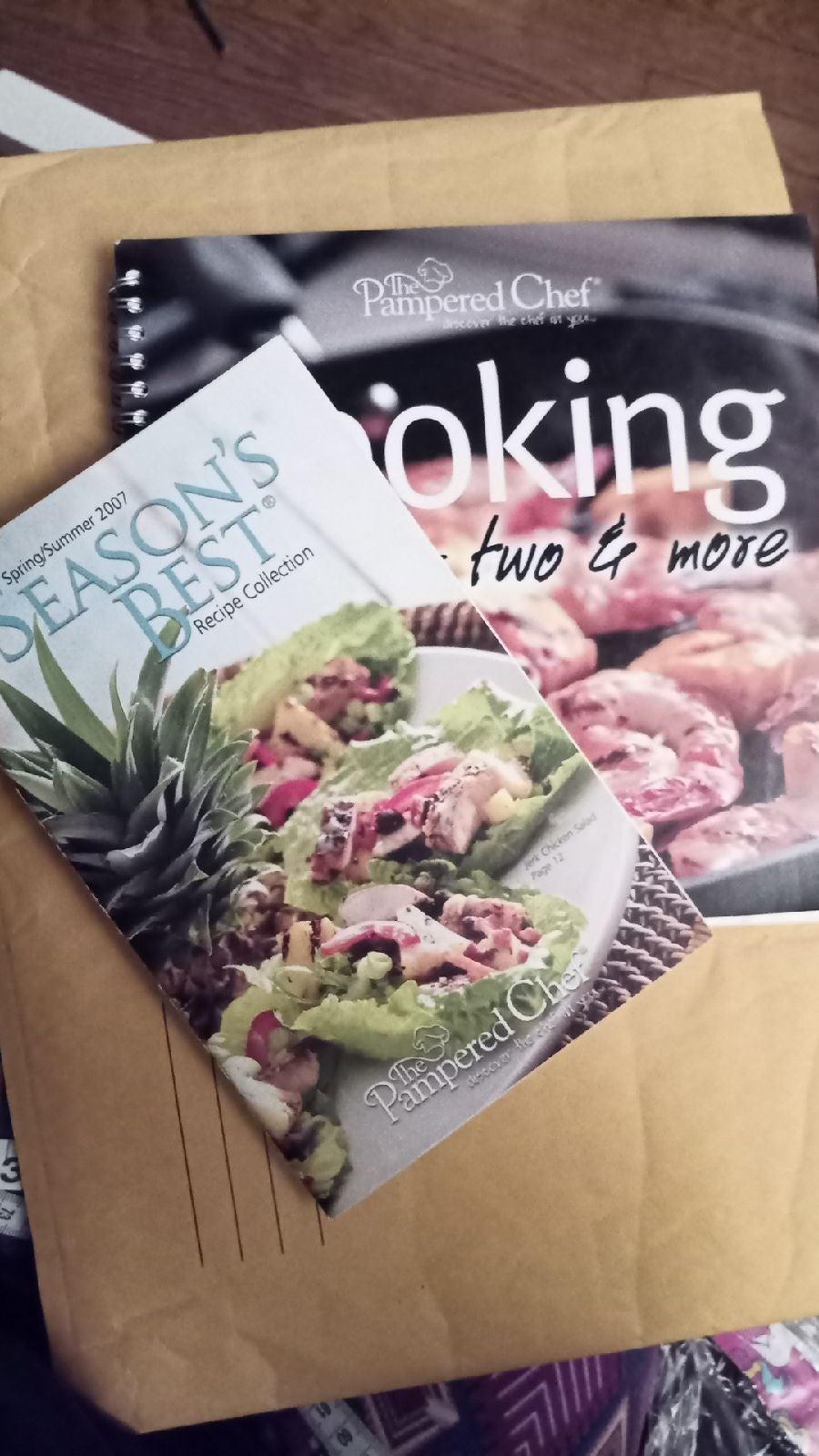 2x Pampered Chef Cookbooks