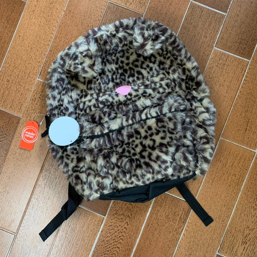 Fuzzy Cat Backpack