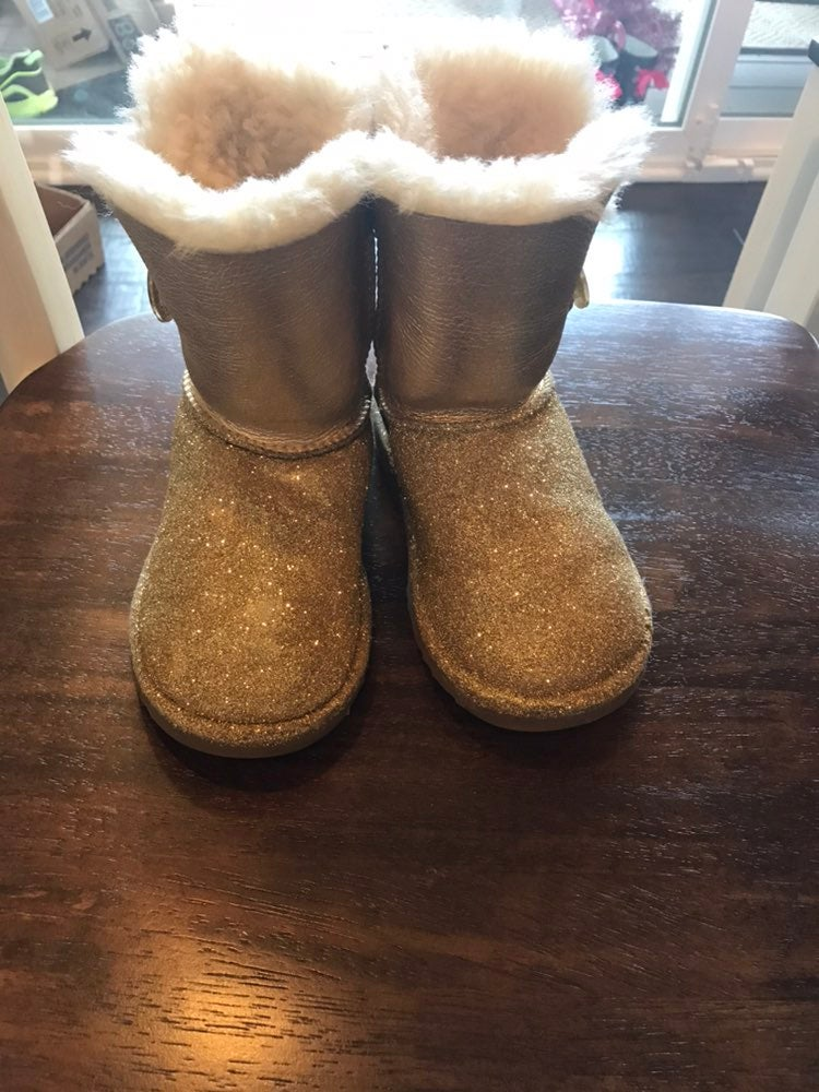 Size 11 Toddler Gold Ugg Boots