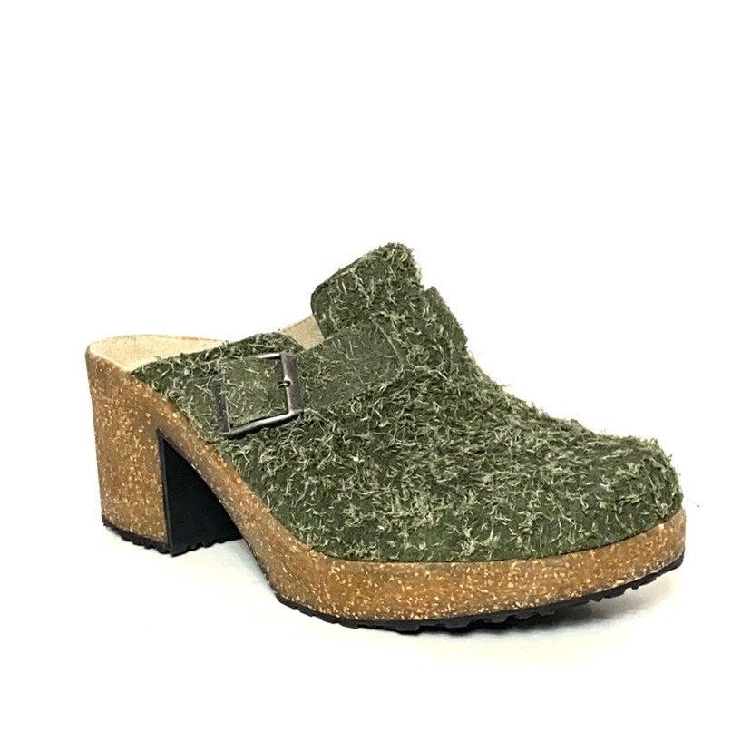 Birkenstock Papillio Green Slide Clog 7