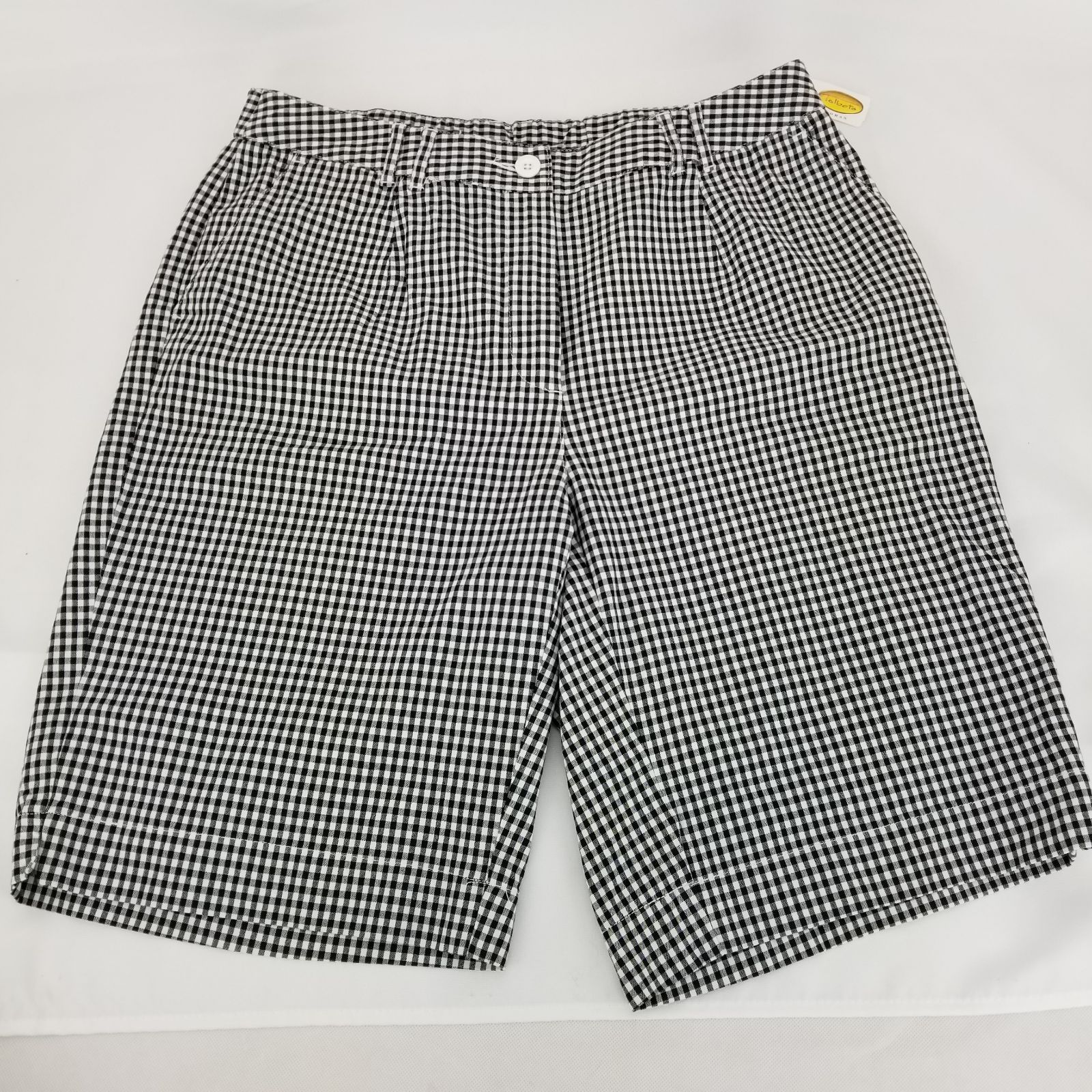 TALBOTS Black White Checkered Stretch Sh