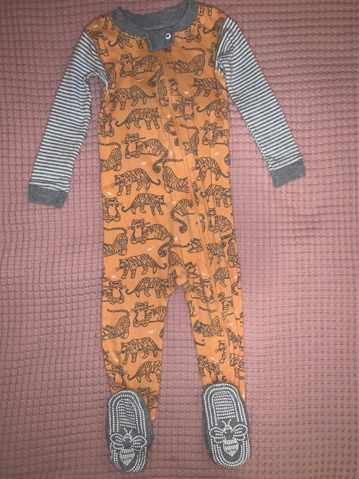 Burts Bees Tiger Pajamas Size 18 Months