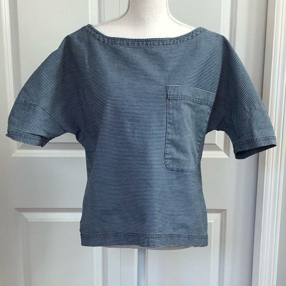 Zara Blue & White Engineer Stripe Shirt