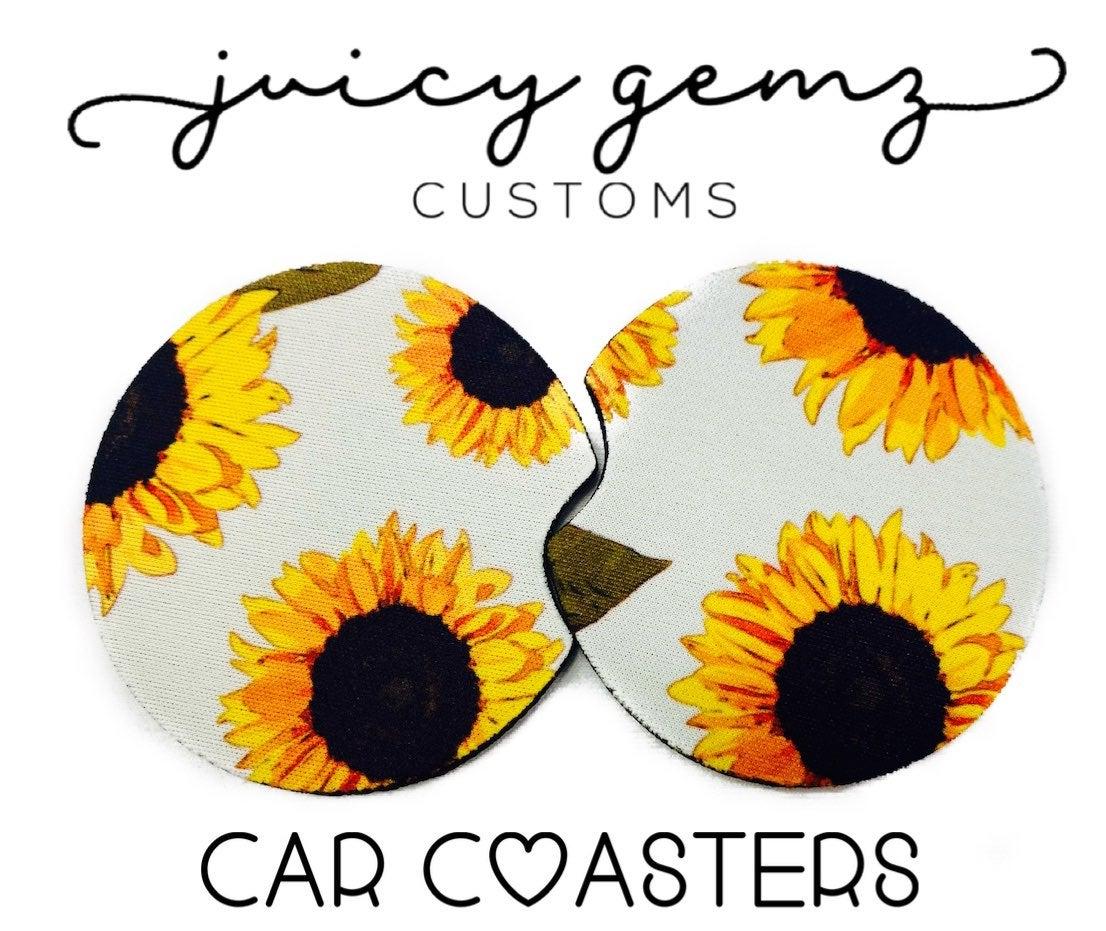 Sunflower Car Coasters