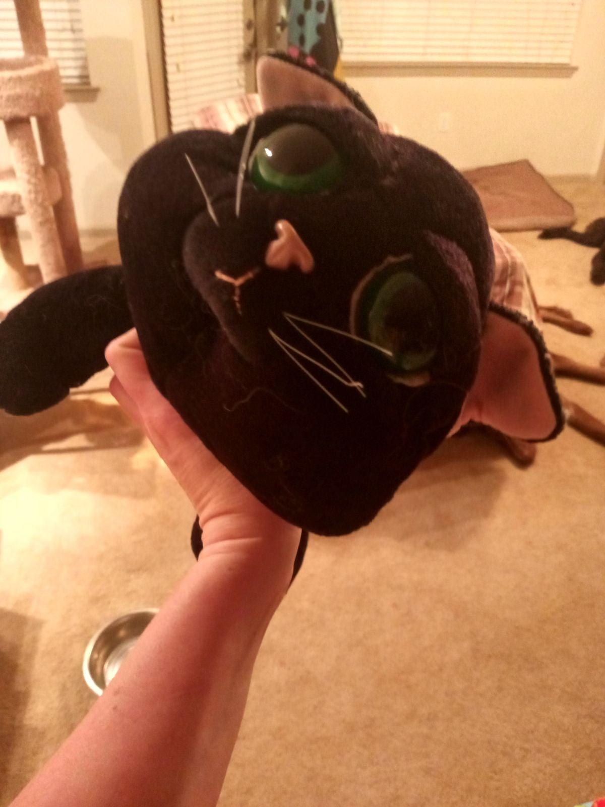 Russ black cat plush
