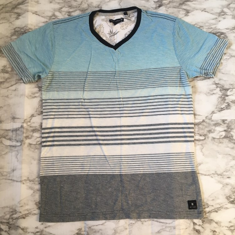 Ocean Current Sleeve Striped T-shirt, S