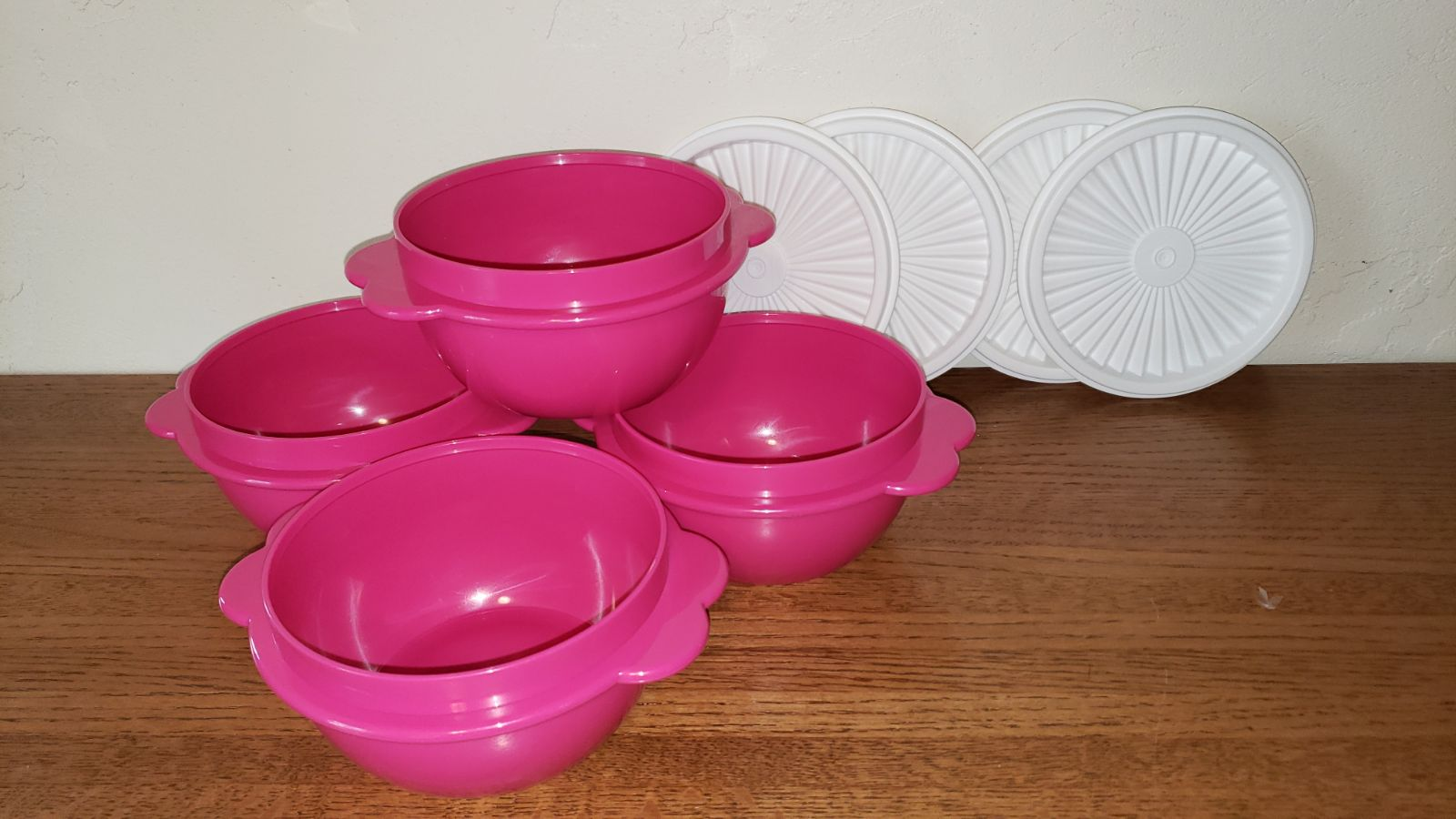 4 New Tupperware Bowls with Seals
