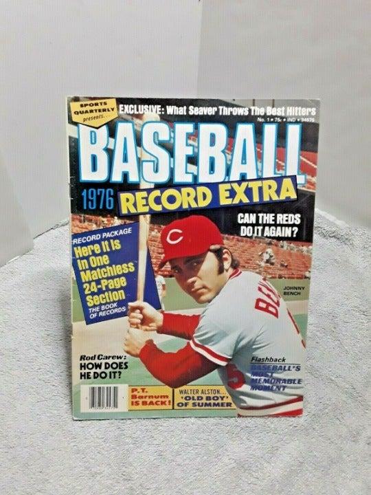 Baseball Extra 1976 Mag Johnny Bench