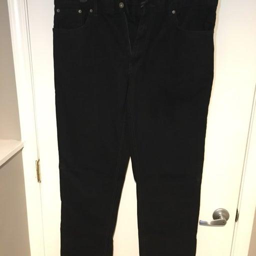 Men's Black Classic Fit Jeans