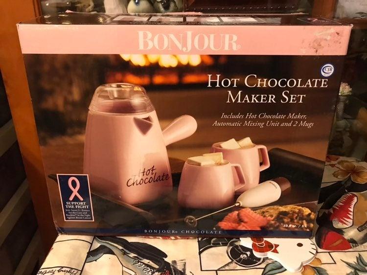 New Bonjour Hot Chocolate Maker 4Pc