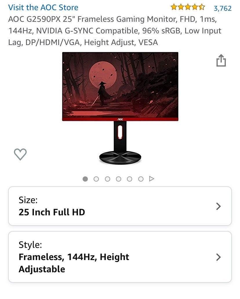 AOC G2590PX Gaming Monitor
