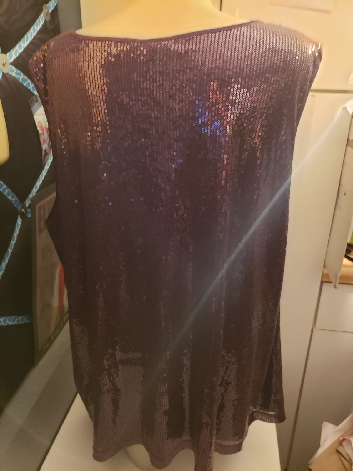 Purple Sequin Tank top NWT Shimmery