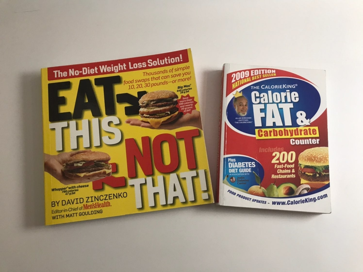 Diet Books: Eat This Not That & Cal King
