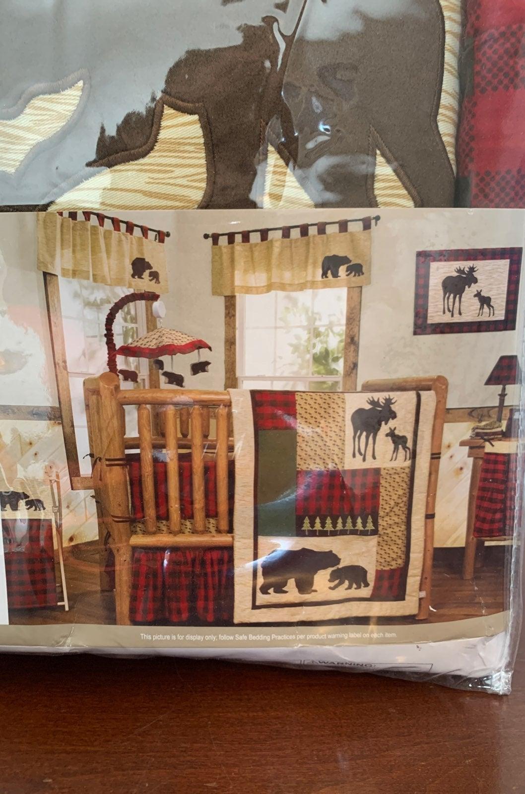 NIB Northwoods 3 piece crib set