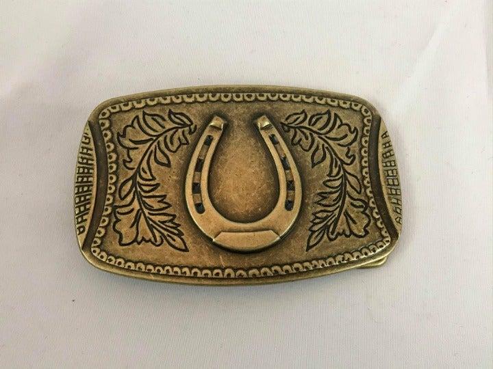 Horse Shoe Belt Buckle Western Style