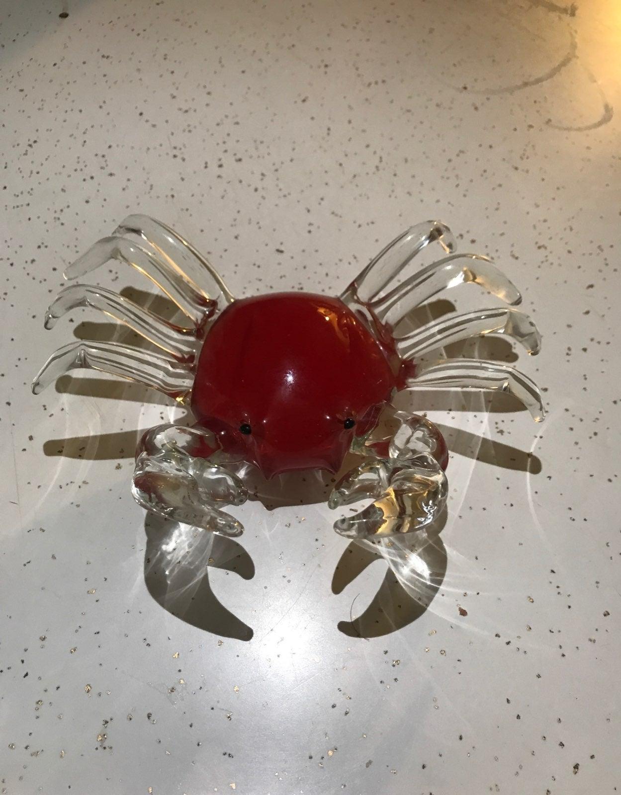Handblown crab paper weight