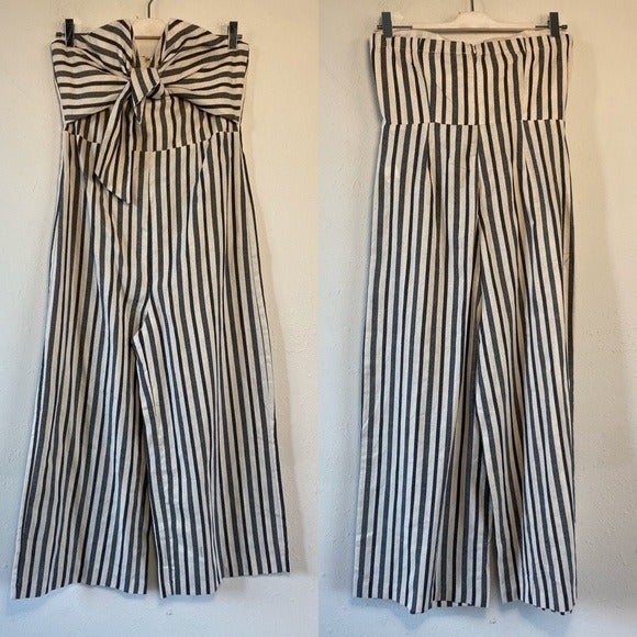 English Factory Gray White Jumpsuit L