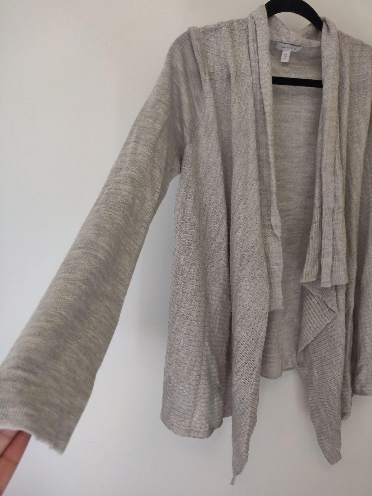 Garnet hill grey soft Cardigan sweater