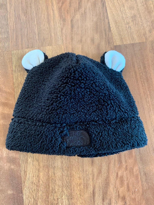 Infant North Face Hat - black/white