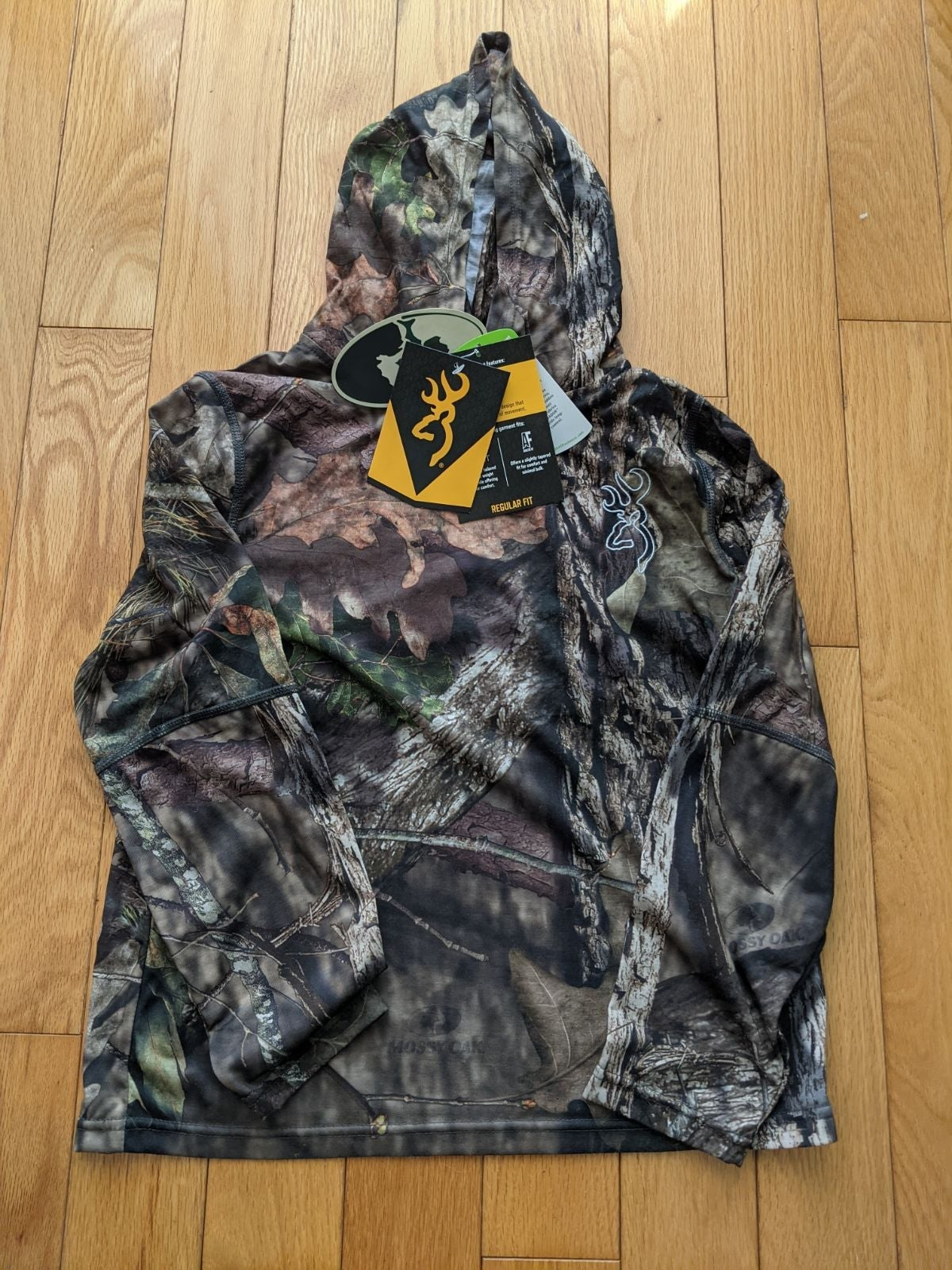 Browning base layer hoodie for youth