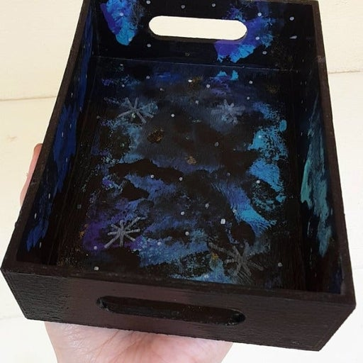 Galaxy Painted Accessory Tray