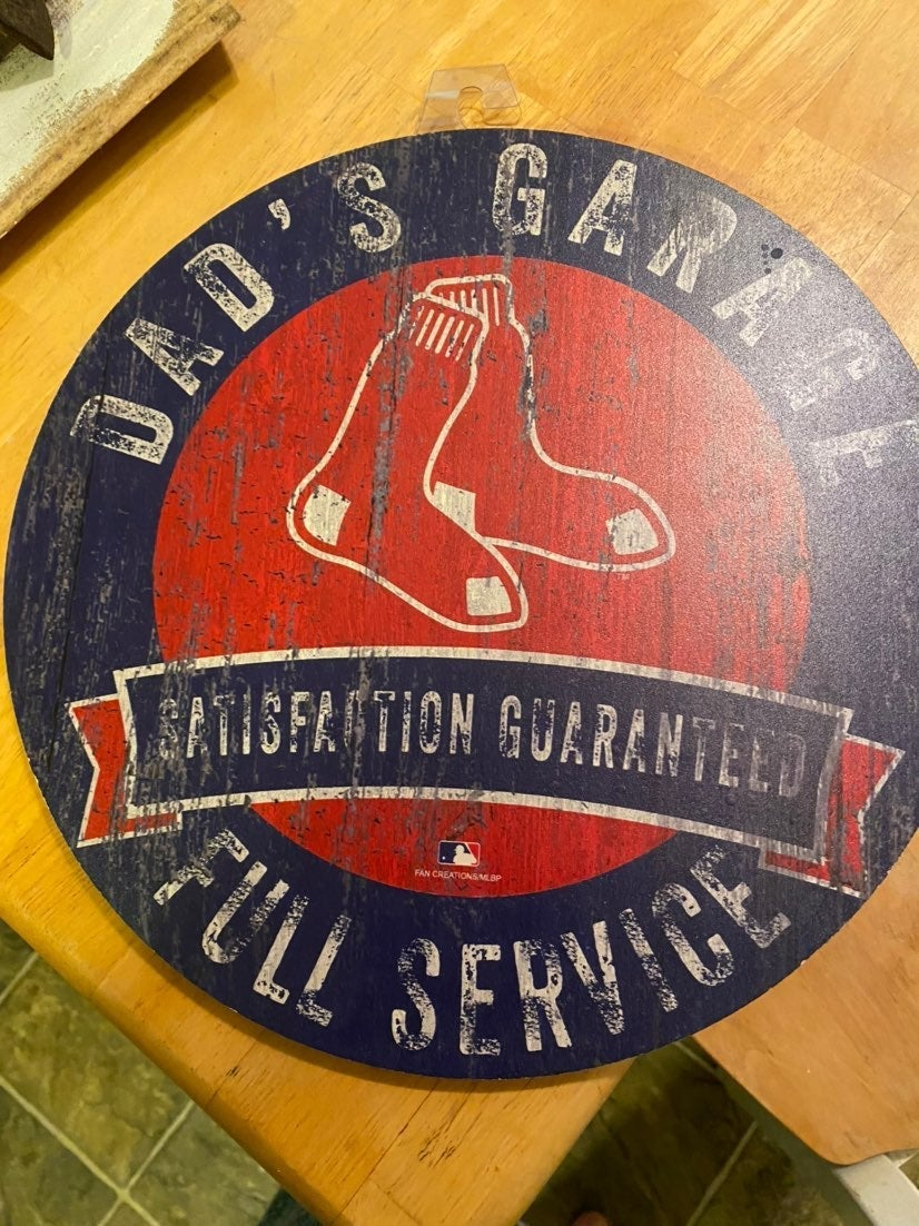 Boston Red Sox Garage sign