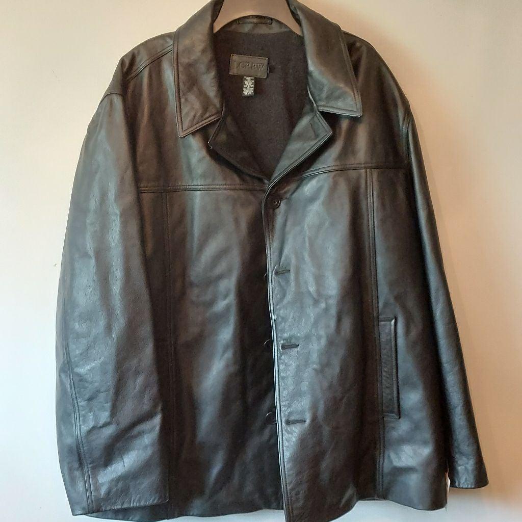 J.Crew Vintage Leather Coat Men's XXL
