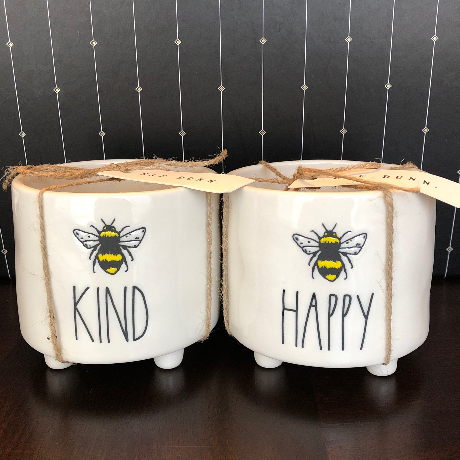 ❤️ Rae Dunn Plant Pots Bee KIND + HAPPY
