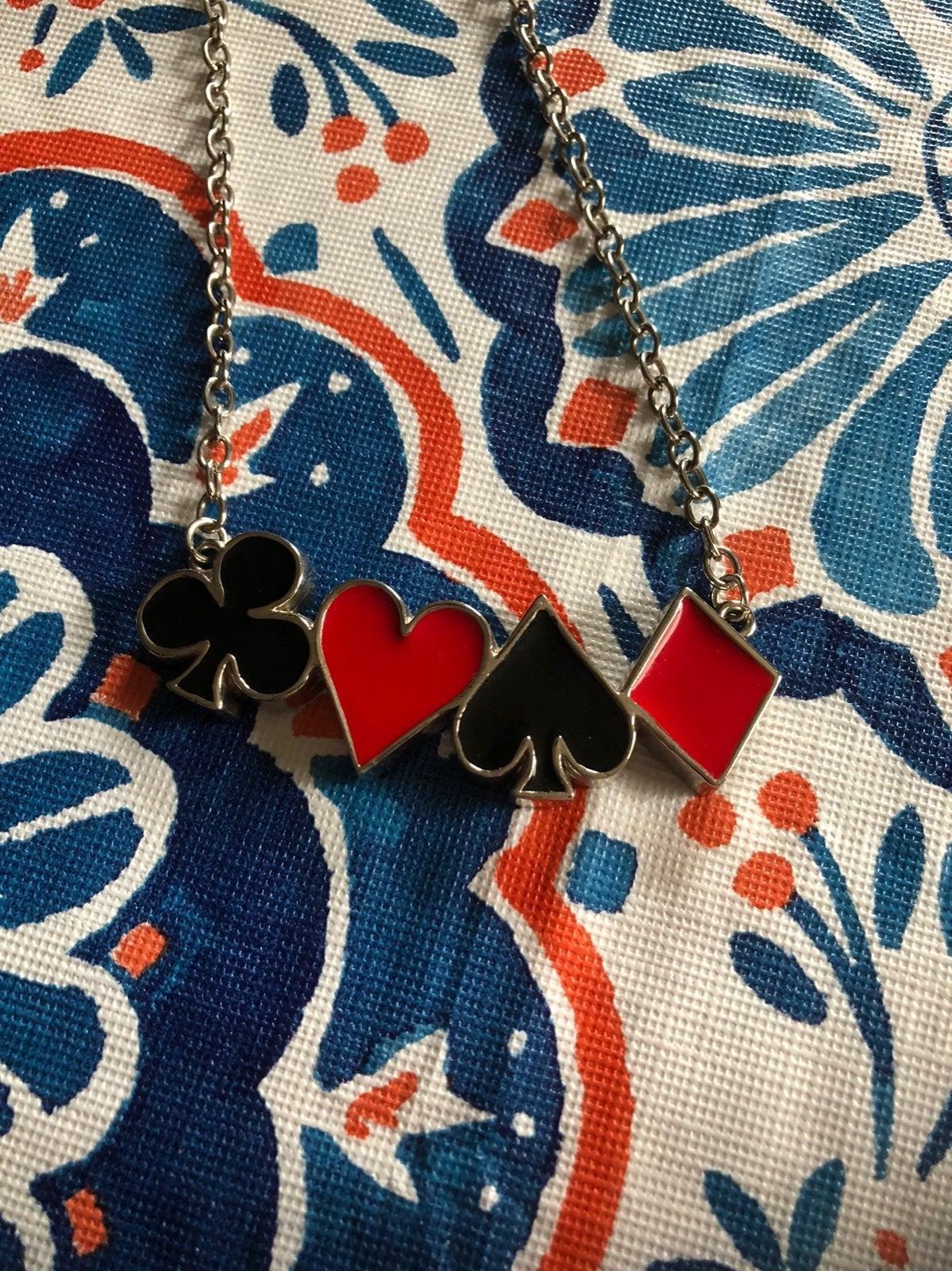 Rock Rebel poker necklace