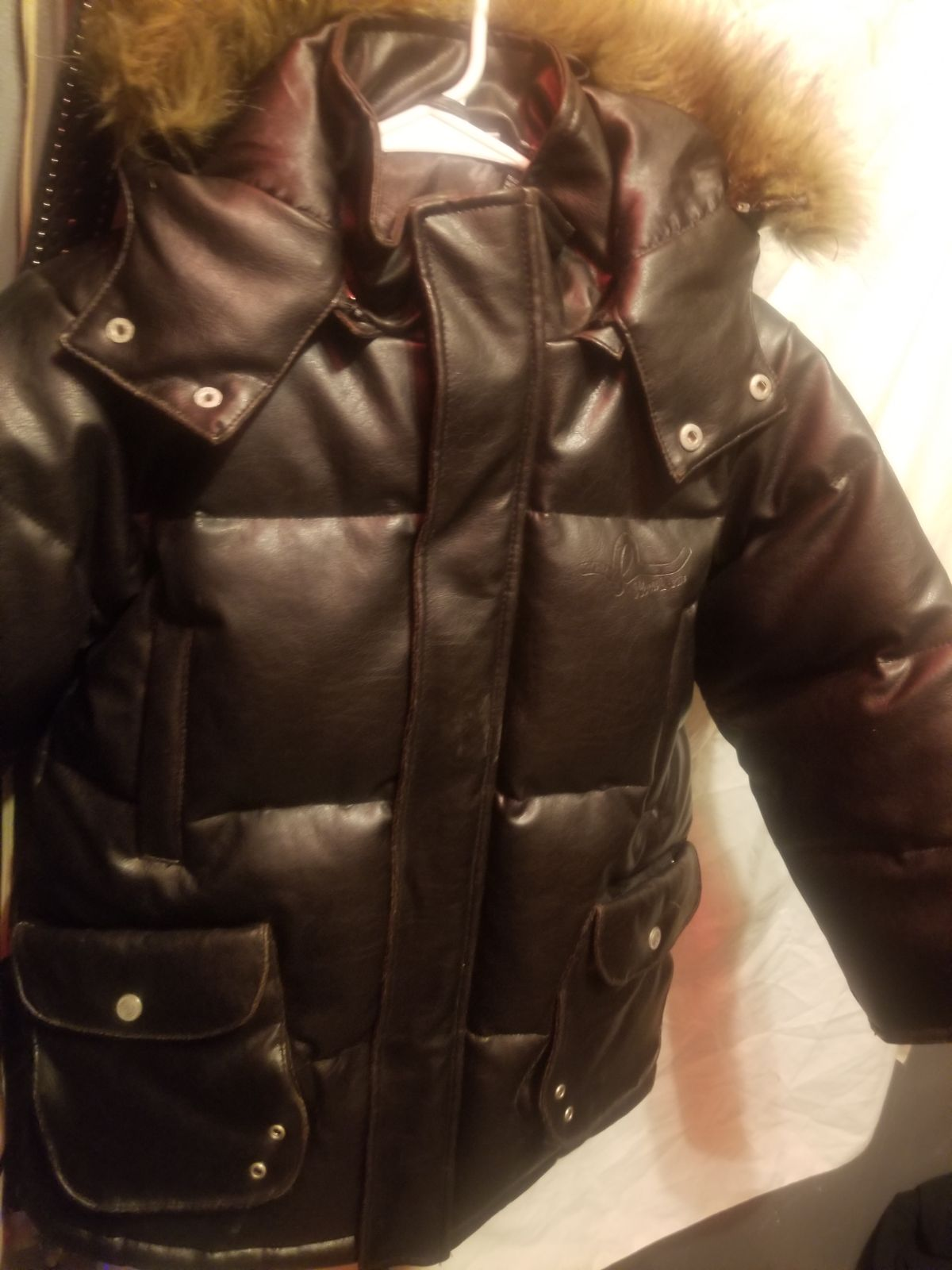 Rocawear leather/goose down Jacket