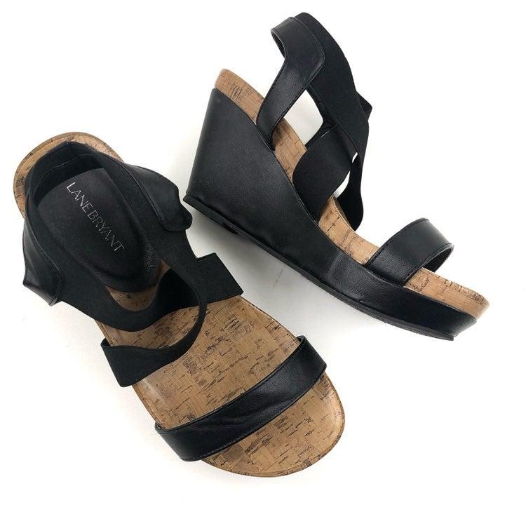 Lane Bryant Stretch Straps Wedge Sandals