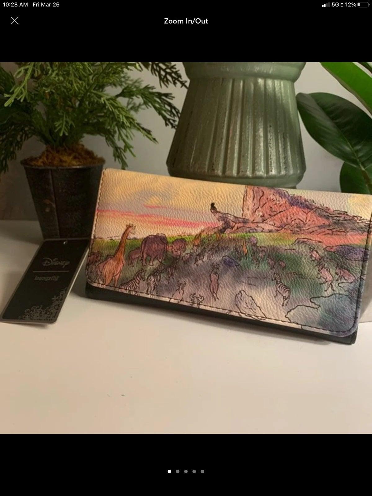 Lion King watercolor Disney wallet