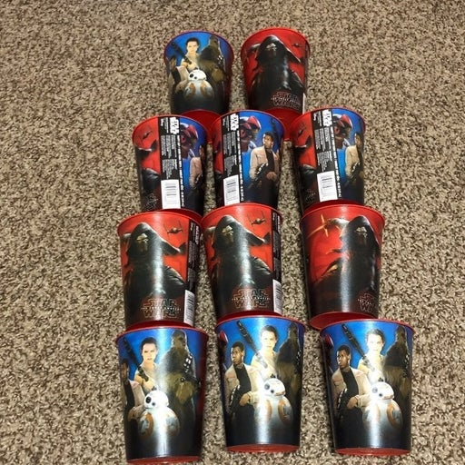 Star wars cups (set of 11)