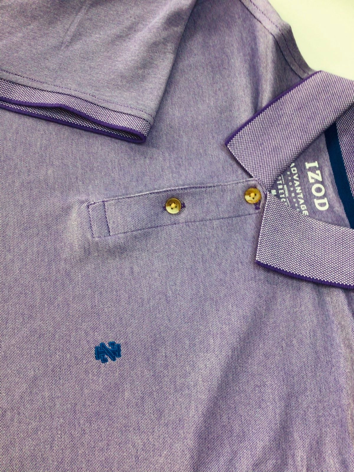 NEW Mens IZOD Polo Purple Medium