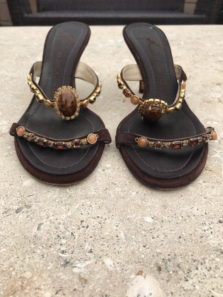giuseppe zanotti kitten beaded heels