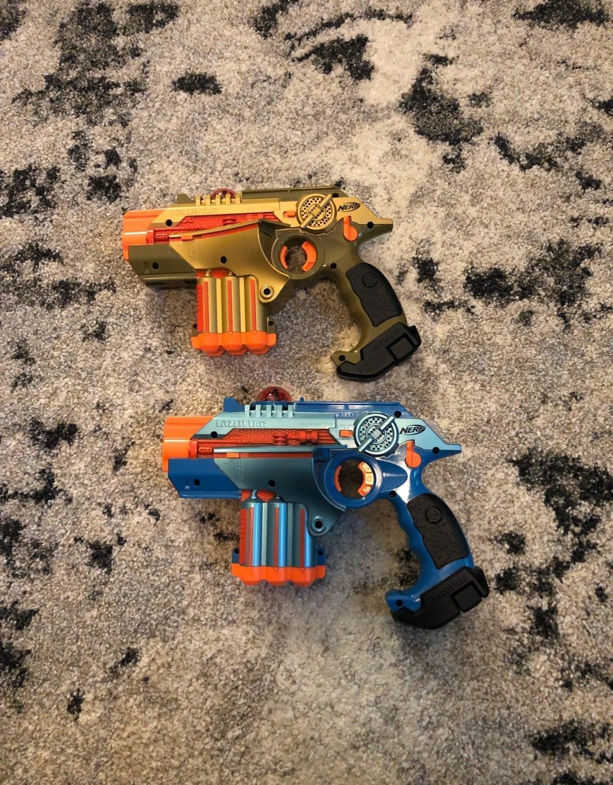 Nerf Phoenix LTX laser tag guns