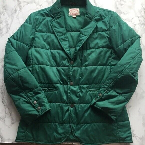 Women's Brooks Brothers S Green Puffer