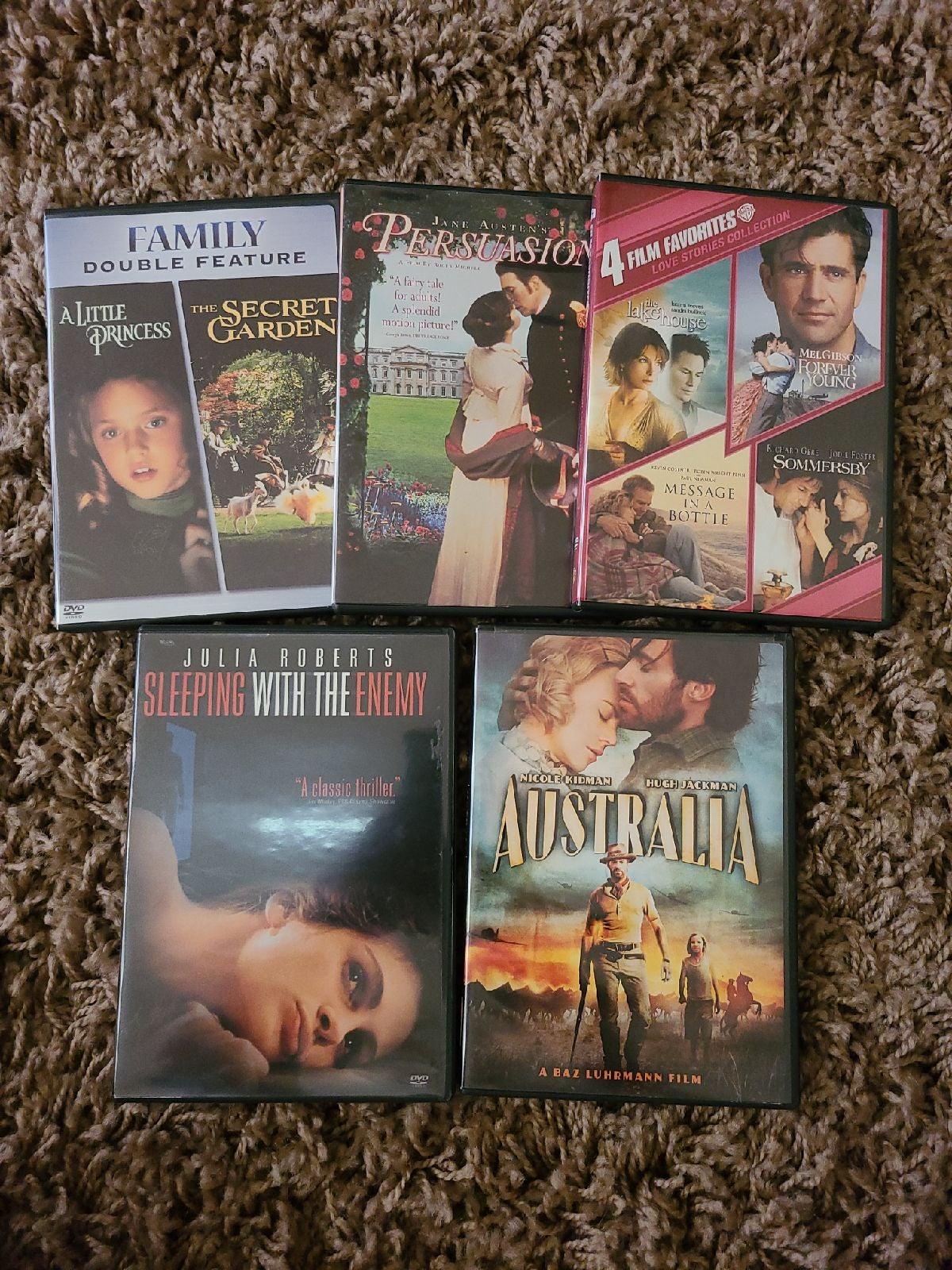 DVD movies Action romance family adventu
