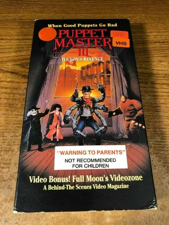 Puppet Master III 3 VHS Horror Rare