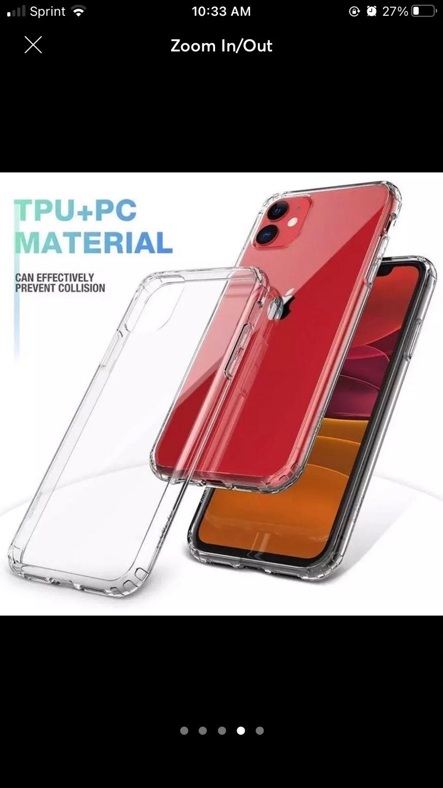 Iphone 12  protective case clear
