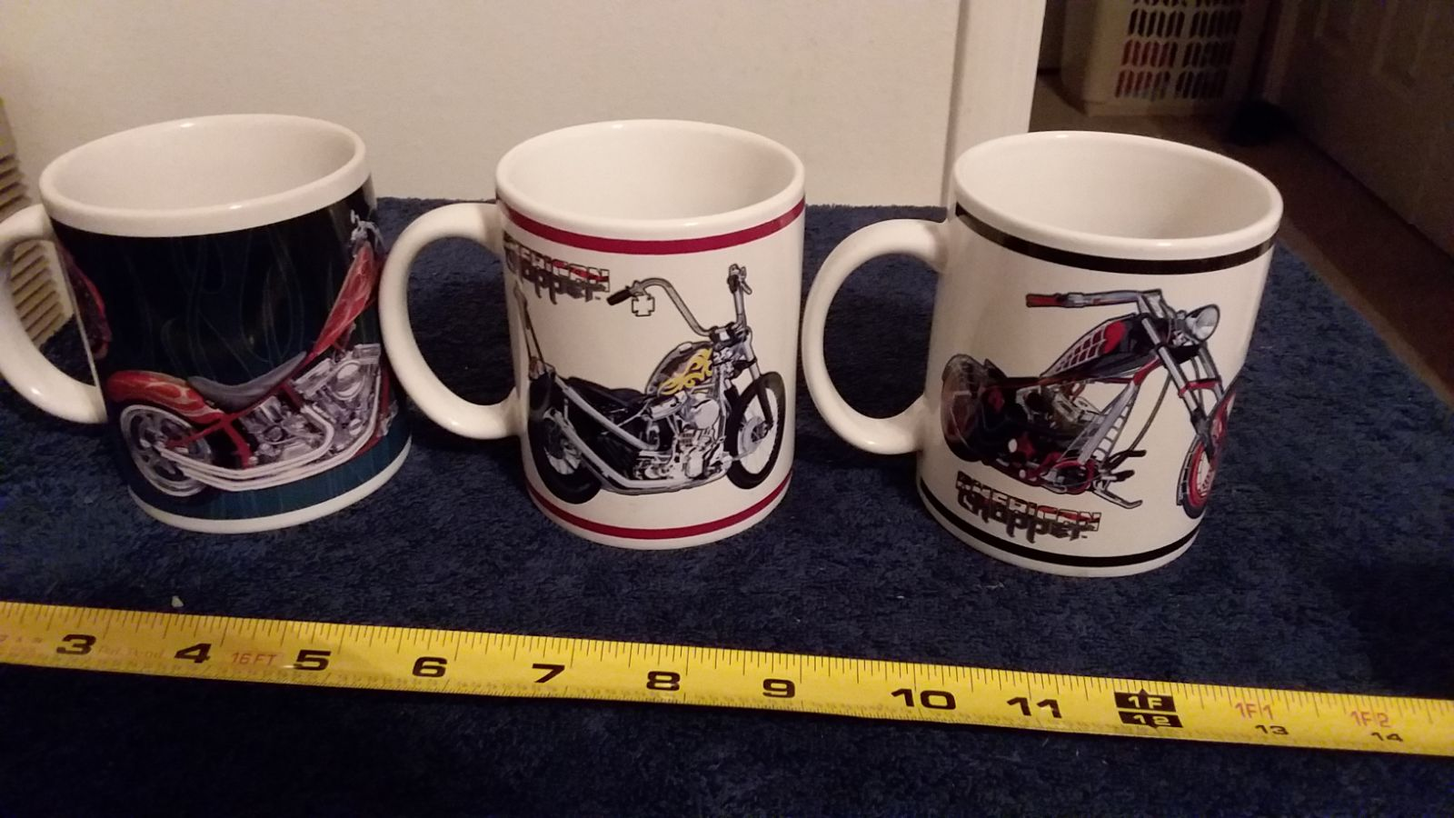 3 vintage licensed American Chopper Cups