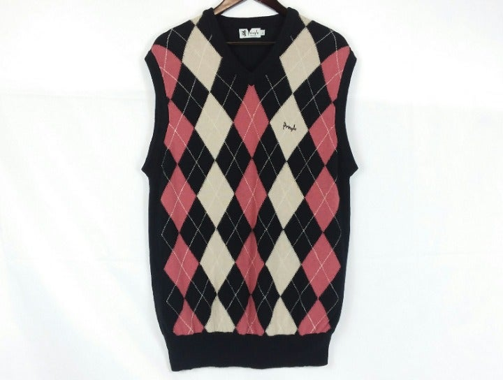 VTG Pringle Lambswool Argyle Sweater L