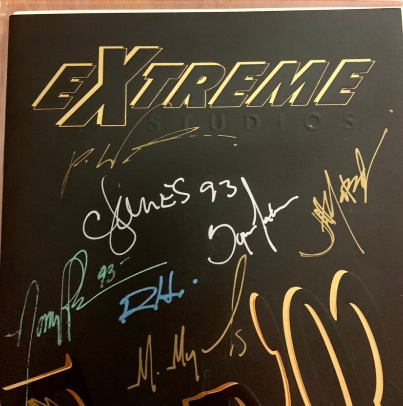 Extreme tour 93 rob liefeld signed auto