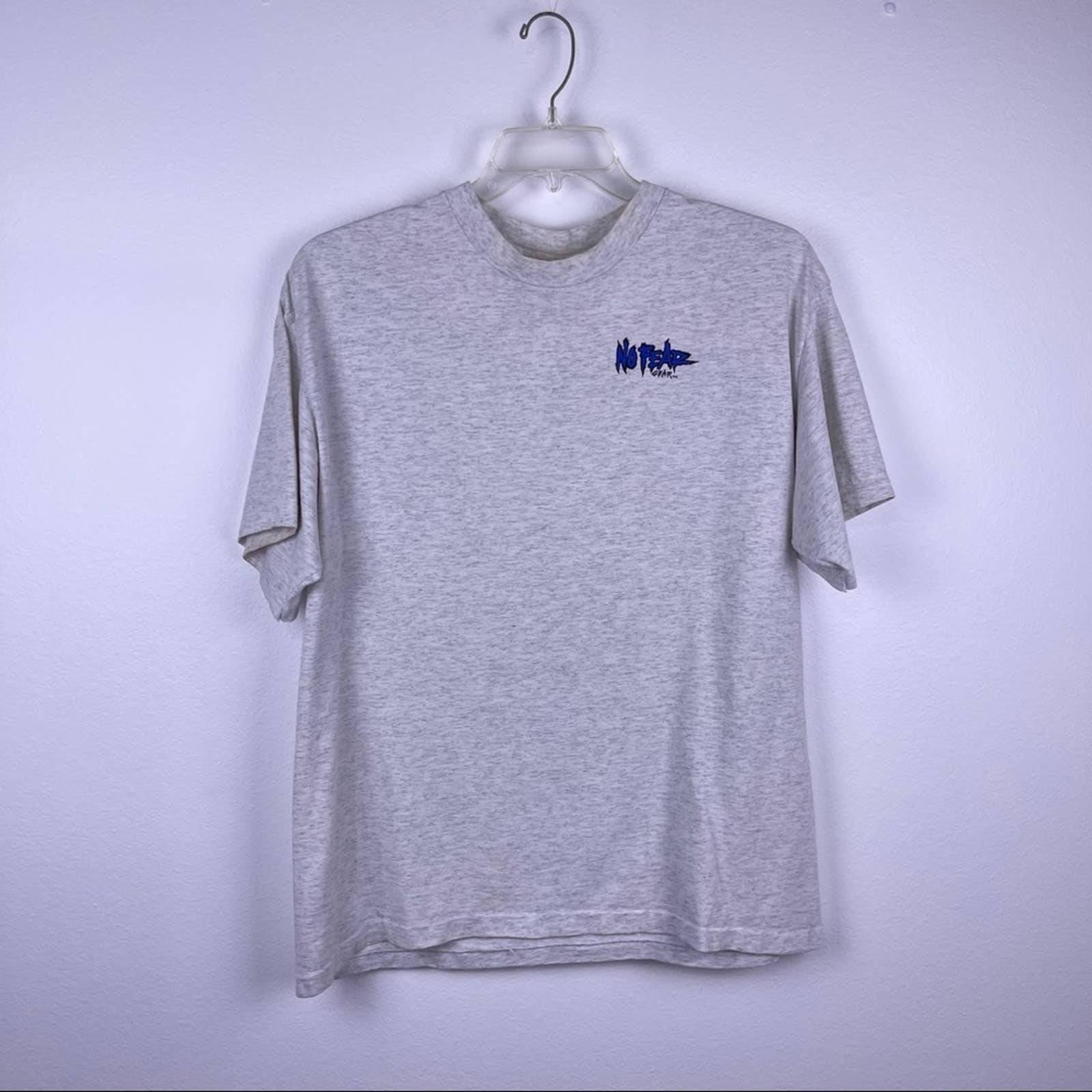 Vintage No fear Gear Will Race T Shirt