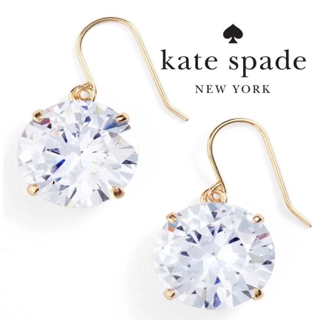 Kate Spade Shine On Clear Drop Earring