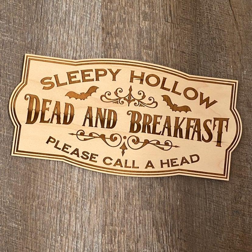 Sleepy hollow wood sign