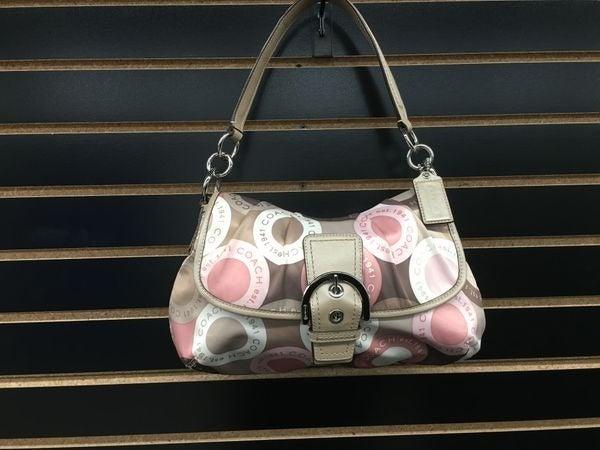 NWOT Coach Soho Pink Gray Buckle Bag