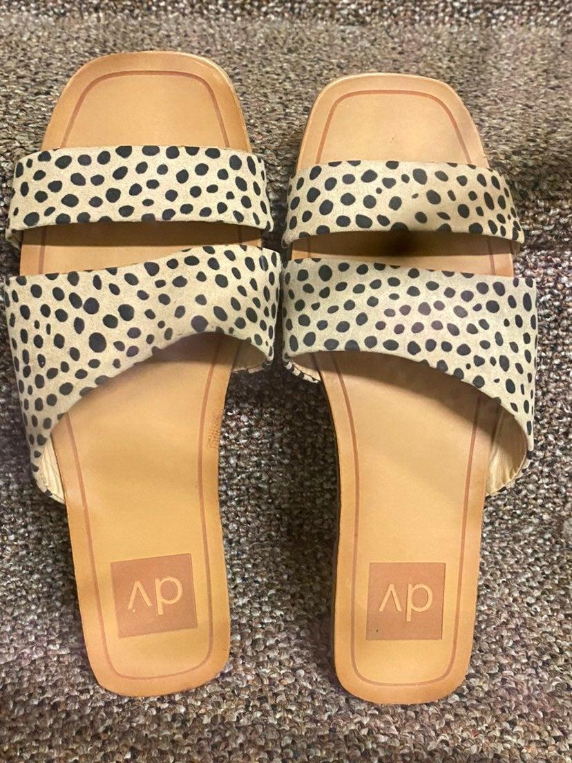 dv by dolce vita leopard slide